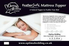 Feather Soft Natural Filled Mattress Topper Double Bed Size Soft Topper