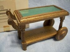 Concord Miniatures Doll House Furniture Tea Cart 2691 Serving Rolling Vintage