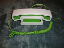 swissvoice ePure Mobile Corded Handset + Base for All Phones CH01 White Green