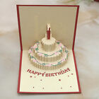 3D Pop Up Greeting Card Handmade Happy Birthday Party Invitation Valentines Day