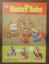 Vintage Whitman Tiny Western Rodeo PRESS-OUT book Unused Excellent 1975 L2