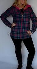 New Womens Burton Reversible Pink Flannel Snowboarding Jacket Medium Coat