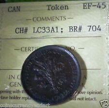 LOWER CANADA TOKEN,BRETON # 704  CH # LC33A1.