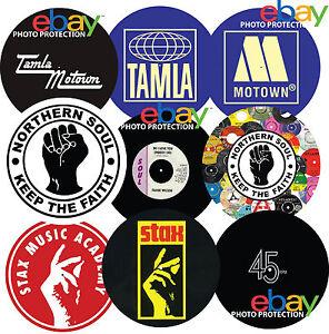 "SINGLE (1) Northern Soul Tamla Motown Stax 12"" / 7"" DJ SLIPMAT turntable mat NEW"