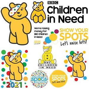 CHILDREN IN NEED - IRON ON TSHIRT TRANSFERS - A6 A5 A4