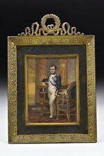 Miniature Portrait Painting of Napolean Signed Albert Schumann 19th Century
