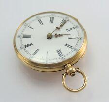 VINTAGE TASCHENUHR GOLD 585 - 14 KARAT Schlüsselaufzug