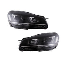 LED Headlights For 2010-2014 VW Volkswagen Golf 6 GTI MK6 DRL Golf 7 Look DRL