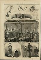 Artillery Shells Manufacture Military Industry 1861 great old print for display