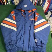 Vintage 90's University Virginia Cavaliers Starter Full Zip Jacket Sz L UVA Mens