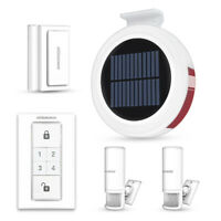 Wireless GSM Alarm Solar Power Outdoor Siren security alarm system Remote Keypad
