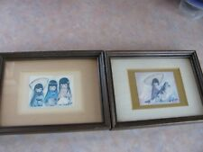 "TED DEGRAZIA PRINTS ""WEE THREE"" ""MY FIRST HORSE""  6"" X 8"" FRAMED"
