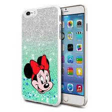 Glitter Effect Disney Minnie Hard Case Cover For Samsung Apple Huawei HTC - 24