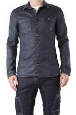 absolut joy jeans hemd l dunkelblau slim fit druckknöpfe