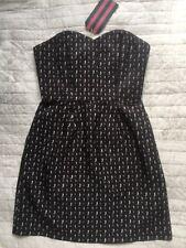 JACK WILLS Rushbury Black Corset Dress, UK 8, BNWT