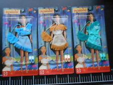 ♥  VINTAGE 3 DRESSED BARBIE Mattel DOLLS NATIVE AMERICAN OUTFITS POCAHONTAS  ♥