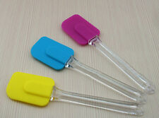 1x Silicone Kitchen Cake Cream Spatula Mixing Scraper Brush Butter Baking ToolsW