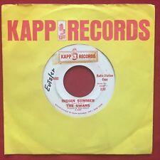 THE SWANS ~ INDIAN SUMMER (1962)  KAPP 488 ~ RARE PROMO 45 ~ R&B GIRL GROUP