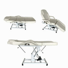 Electric Hydraulic Beauty Massage Bed Therapy Table Spa Relax Chair Couch White