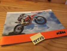 KTM 2003 motocross SX 125 200 250 450 525 moto prospectus catalogue brochure
