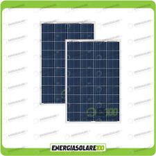 Set 2 Pannelli Solari Fotovoltaici 80W 12V multiuso Pmax 160W Baita Barca