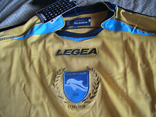 Team Pescara Calcio Mens Official Soccer Jersey Legea Size XL Yellow LS 2010