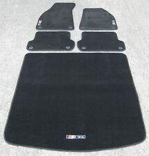 Negro Super Velvetón Alfombras de coche - AUDI A4 B6/B7 (2001-08) + MALETERO