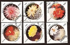 2B2 BENIN  serie de 6 timbres oblitérés :Fleurs de cactés 1999