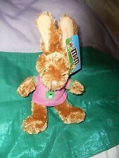 New M&M Brown *Bunny* with a Pink Shirt featuring Green Plush ~ Fast Sh!