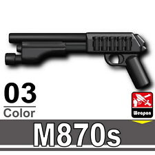 M870S (W142) Shotgun Compatible with toy brick minifigures Army