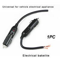 12V 10A Male Plug Cigarette Lighter Adapter Power Supply LED Socket Connector