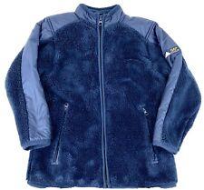 Gap Kids Boys Sz XS 4-5 Navy Blue Heavyweight Fuzzy Fleece Layer Jacket Coat New