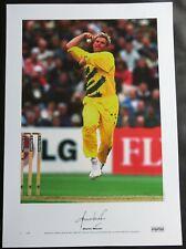 Large Shane Warne Signed Australain Cricket Photo World Cup 1999 AFTAL RD175 COA