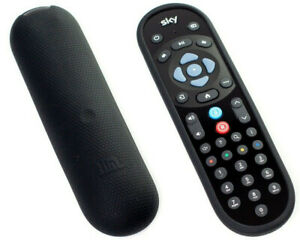 Sky Q Remote Control Shockproof Honeycomb COVER for latest Remote - BLACK - UK