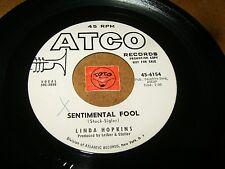 LINDA HOPKINS - SENTIMENTAL FOOL - LOVE IS A MANY SPLENDORED    / LISTEN - GIRL