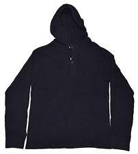 Polo Ralph Lauren RRL Waffle Thermal Hooded Hoodie Sweatshirt Shirt Navy Large