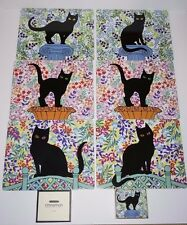 Black Cat Placemats Coaster Set Dinner tableware setting place mat sets pussy