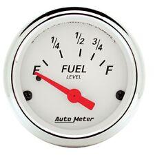 "Auto Meter 1316 2-1/16"" Fuel Level Gauge 73-10 Ohms Air-Core Ford Arctic White"