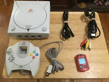 Sega Dreamcast HKT-3020 Console, Controller, Cables, VMU, Tested and Working