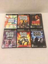Lot Of 6 Guitar Hero 3 World Tour Encore 80s AC/DC, BAND HERO, ROCKBAND A347