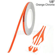 "1/8"" 3mm Orange Chrome Pinstripe Pin Stripe DIY Line Vinyl Tape Decal Sticker"