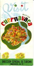 Visit Mexico Cuernavaca Direccion General de Turismo Old Brochure