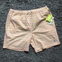 Psycho Bunny Boys Wave Green Drippy Diamond Swim Trunk Shorts