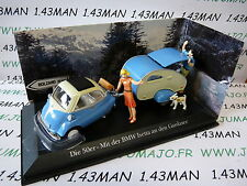 Car 1/43 test ATLAS Germany : DIORAMA BMW Isetta + caravan NOREV