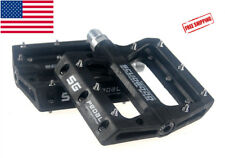 SCUDGOOD Polyamide MTB Road sealed Bearing Pedal Wide Platform Flat Pedals Black