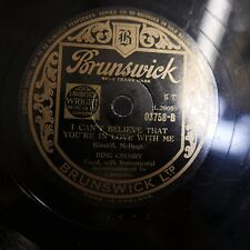 78rpm BING CROSBY can`t believe you`re in love with me / september song