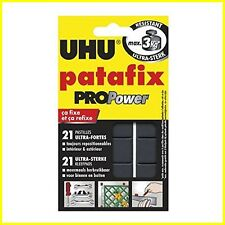 UHU Patafix PRO-POWER Ultra-Strong 3kg, 21 Removable Adhesive Reusable Glue Pads