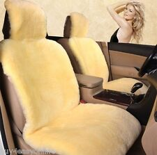 100% Real 2pcs Beige Sheepskin Pelt Wool Car Seat Cover(Universal Fit) Pair (Fits: 2010 Charger)