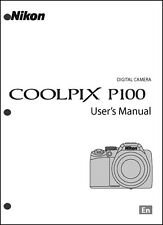 Nikon CoolPix P100  Digital Camera User Guide Instruction  Manual
