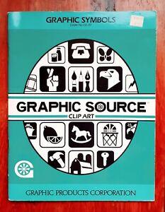 Graphic Source Clip Art Book Graphic Symbols 1986 Softcover